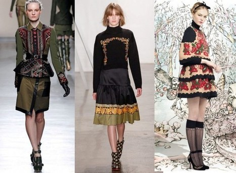 Fashion Week Breaking Trends Fall 2013: Folkloric Embroidery - Accessories Magazine | Ac-socialize | Scoop.it