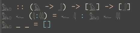 Programming in hieroglyphics using Haskell and Unicode. By Nadim... | ASCII Art | Scoop.it