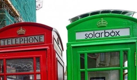 Uma nova vida para as icónicas cabines telefónicas de Londres, transformando-as em estações para carregar telemóveis com energia solar.   Eco   Scoop.it