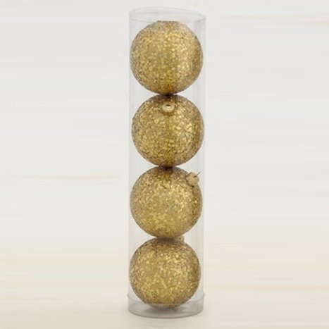 Club Pack of 32 Shatterproof Gold Glitter Christmas Ball Ornaments 3.25″ 80mm Discount | Rent Me A Farm | Scoop.it