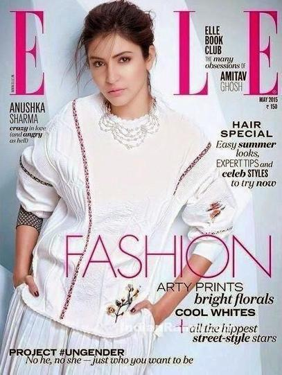 Anushka Sharma in White Dress on Cover Page of Elle Magazine 2015, Actress, Bollywood | Indian Fashion Updates | Scoop.it