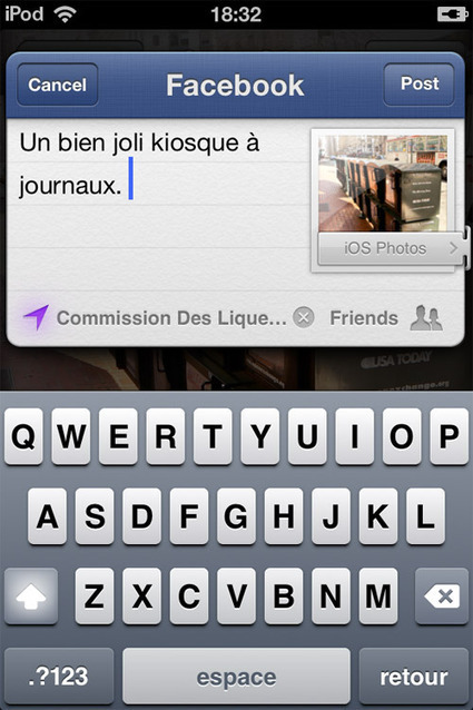 iOS 6 : aperçu de l'intégration Facebook | Digital Publishing, Applications tablettes et smartphones | Scoop.it