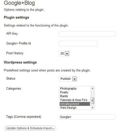 Extensión de Wordpress permite importar los posts desde Google Plus   Aplicaciones y Herramientas . Software de Diseño   Scoop.it
