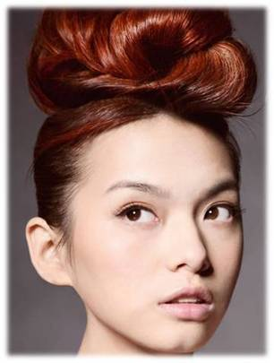 Stylish Updos Hairstyle With Copper Brown Hair Color | Beauty Tips | Scoop.it