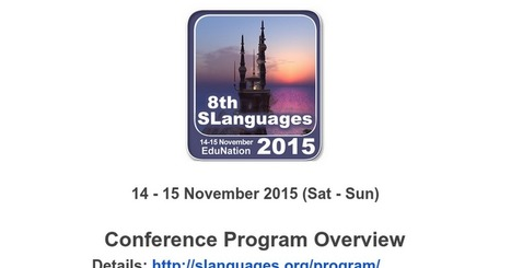 8th SLanguages 2015 PROGRAM | computer mediated communication | Scoop.it