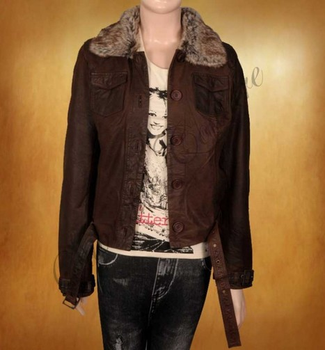 This superb Exalt Brown Waxed Jacket is a remarkable piece of leather. | WOMEN JACKETS | Scoop.it