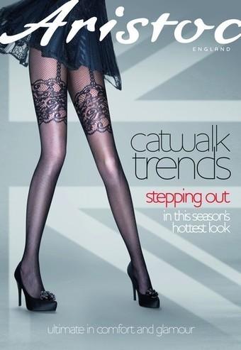 Nätstrumpbyxor i trendigt stockings-look från Aristoc | strumpbyxor boutique | Scoop.it