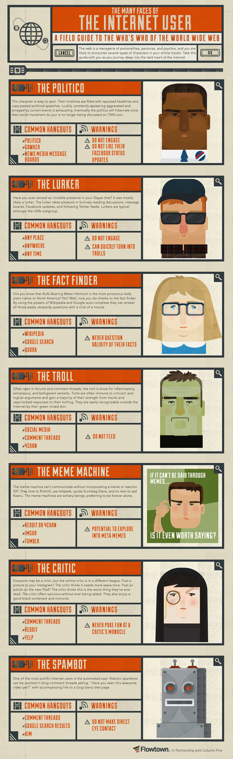 The Many Faces Of Internet Users [Infographic] | Informatics Technology in Education | Scoop.it