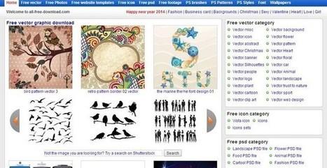 All Free Download, uno de los mayores bancos de recursos para diseñadores│@softapps | Curar contenidos y citar fuentes | Scoop.it