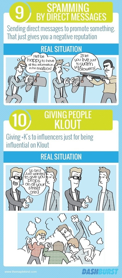 10 Twitter Mistakes You Also Make in Real Life [INFOCOMIC] | Hints for Start Ups | Scoop.it