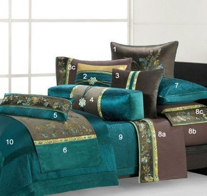 Turquoise and Brown Home Decor | Bedroom Furnishings And Decor Ideas | Scoop.it