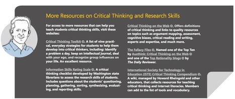 A Great Guide to Developing Critical Thinking through Web Research Skills eBook | iGeneration - 21st Century Education | Scoop.it