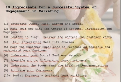 """10 Ingredients for a Successful """"System of Engagement"""" in Marketing   MarketingHits   Scoop.it"""