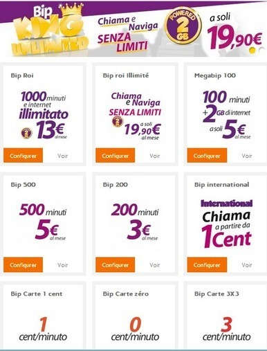 Bip Mobile, un opérateur italien inspiré par Free Mobile   Free Mobile, Orange, SFR et Bouygues Télécom, etc.   Scoop.it