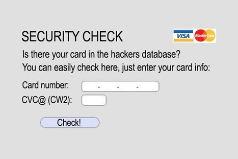 Credit Card Security Check - Don't Try this at home! | Hacking Wisdom | Scoop.it