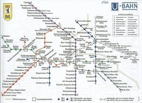 Le mur de Berlin expliqué par les cartes du métro | Des liens en Hist-Géo | Scoop.it