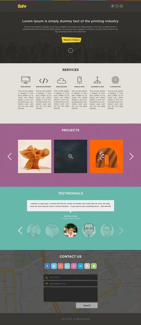 Best Single Page Website Templates PSD | Modern Marketing Revolution | Scoop.it