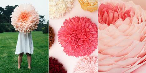 Giant Paper Flowers by Tiffanie Turner #art #paperart #flowers #sculpture | Luby Art | Scoop.it