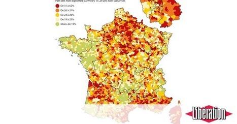 Les cartes des disparités à l'école (Libération) | Géographie de l'espace scolaire, Géographie de l'école | Scoop.it