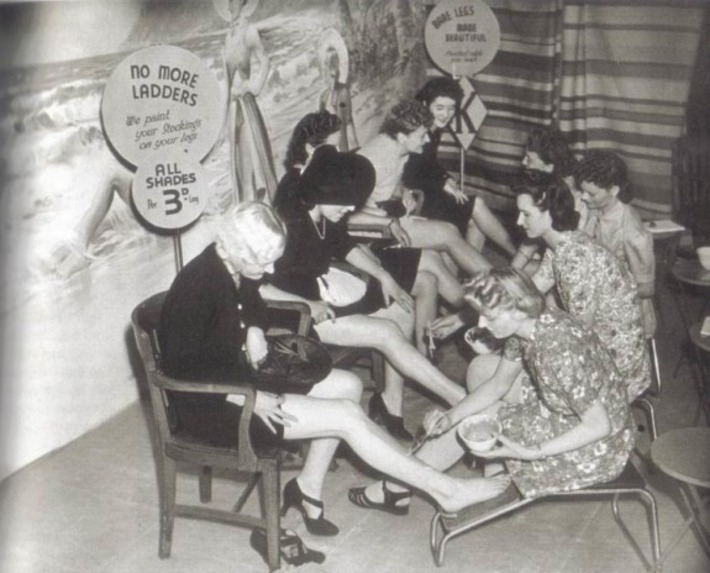 Stockings Series, Part 2: Paint-on Hosiery During the War Years | Sex History | Scoop.it