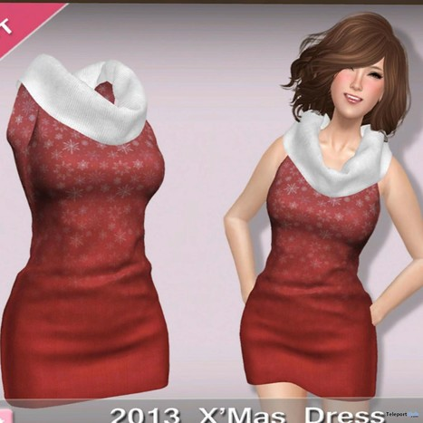2013 XMas Dress Group Gift by Dollie | Teleport Hub - Second Life Freebies | Second Life Freebies | Scoop.it