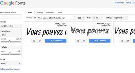 Google Fonts vous offre des typos gratuites - Les Outils Google | Les outils du Web 2.0 | Scoop.it