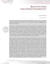 Quelles politiques pour la France périurbaine ? (I) | Territoires et Développement Local | Scoop.it