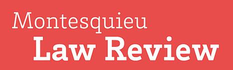 Montesquieu Law Review | Revues droit & science politique | Scoop.it