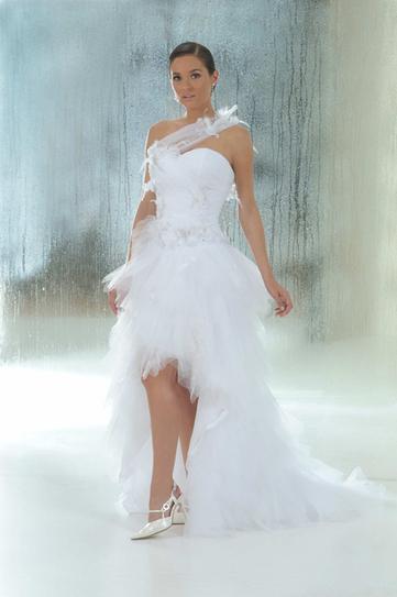 Robe de mariée doccasion Annie couture courte devant Longue ...