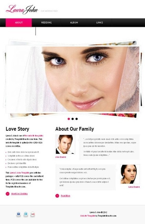 35 Beautiful Wedding PSD Templates | photoshop ressources | Scoop.it