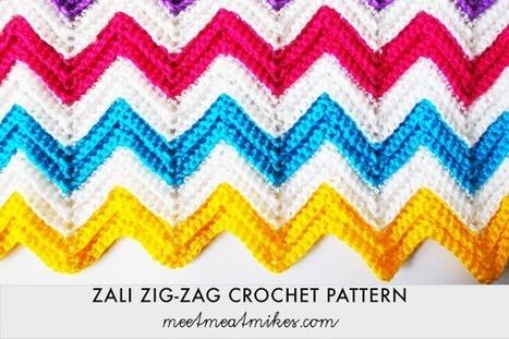 :: Tutorial – Zali Zig-Zag Chevron Crochet Pattern | meetmeatmikes | Free Crochet Patterns | Scoop.it