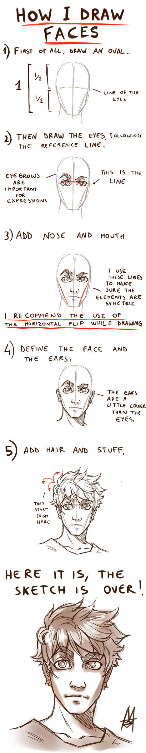 Tutorial HOW TO DRAW A FACE | Art | Scoop.it