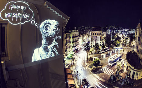 Light projections creating street | Philippe Echaroux | Looks -Pictures, Images, Visual Languages | Scoop.it