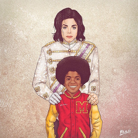 Past and Present Versions of Iconic Figures in Side-by-Side Illustrations - My Modern Met | ILLUSTRATION | Scoop.it