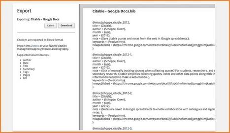 Citable, la forma sencilla de recopilar citas para nuestros trabajos academicos | Educacion, ecologia y TIC | Scoop.it