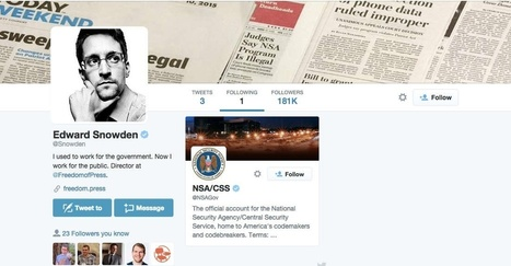 Edward Snowden just joined Twitter, and his first tweet is a classic. | Lang & Lit Articles Parts 1 & 2 | Scoop.it
