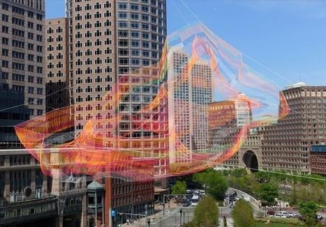 Une incroyable structure artistique suspendue au-dessus de Boston | Lumières de la Ville | Mon oeil par Strabo | Scoop.it