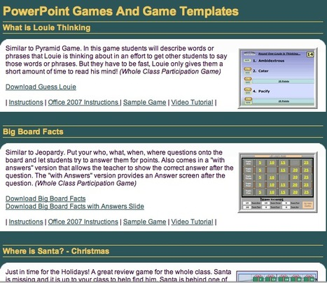 PowerPoint Games | 21st Century Concepts-Technology in the Classroom | Scoop.it