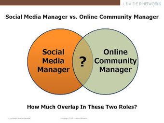Social Media Manager vs. Online Community Manager: Same or Different? | Seo, Social Media Marketing | Scoop.it