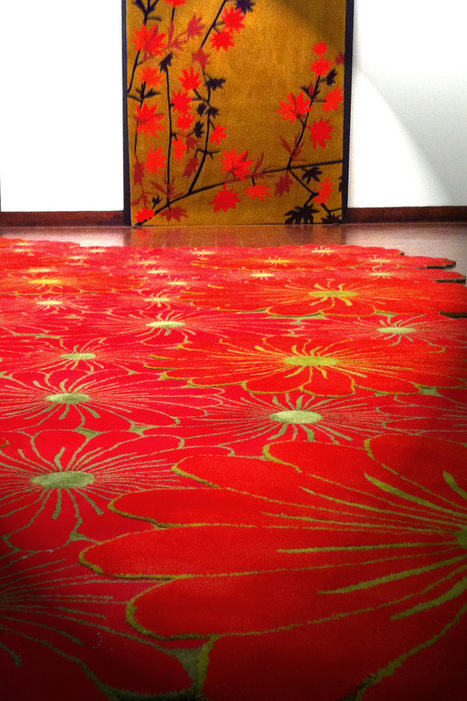 Invite Nature at Home with Red Flower Rugs by PiodaoNet Interior Project | פרחים | Scoop.it