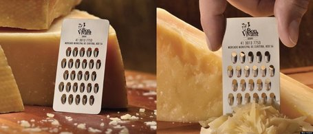 Video: Nifty Business Card That Doubles As A Cheese Grater | Xposed | Scoop.it