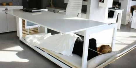 Envie d'une sieste au bureau? Voici le bureau-lit ! | Ca m'interpelle... | Scoop.it