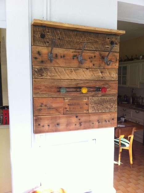 Porte Manteaux En Palette / Pallet Coat Rack   1001 Pallets ideas !   Scoop.it
