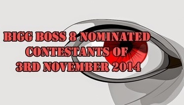 Bigg Boss 8 Nominated Contestants of 3rd November 2014 and one will get eliminated from house on 9th November 2014 - TV Duniya | Complete Entertainment Package Reality TV Shows, Gossips About Bollywood Celebrity, TV, Bigg Boss Reality Shows, Daily Soaps www.tv-duniya.blogspot.com | Scoop.it