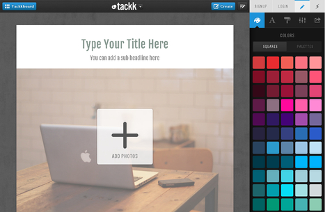 Tackk : creer des pages web simplement - Les Outils Tice | Outils TICE | Scoop.it