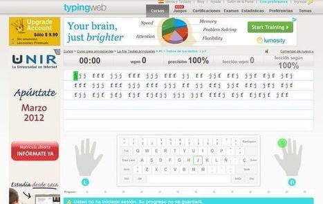 Online Typing Tutor, aprende mecanografía y mejora tu velocidad al teclado | Aprendiendoaenseñar | Scoop.it