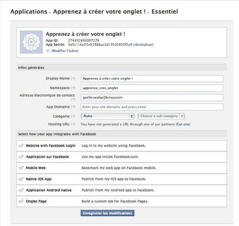 Facebook : créer des onglets personnalisés pour votre page Entreprise | Le Blog Kinoa | Web Analytics and Web Copy | Scoop.it