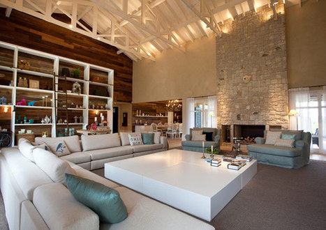 Oana Singa : Rustic Contemporary Living Room in Sao Paulo, Brazil | white by mehar interiors and furniture design | Scoop.it