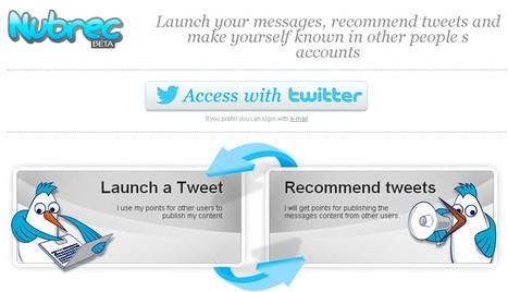 Recommander des tweets aux autres à l'aide de Nubrec | Les outils du Web 2.0 | Scoop.it