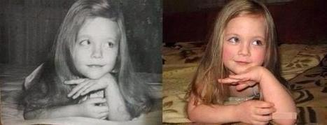 Fascinating Pictures on Twitter : The pic on the left was taken in 1980. She grew up to be the mother of the little girl on the right, taken this year. | The Blog's Revue by OlivierSC | Scoop.it